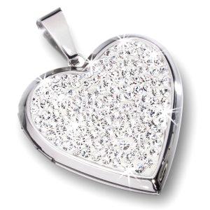 Obesek srce z belimi cirkoni 23645