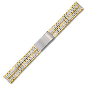 Kombiniran pas za uro s pozlato bicolor 002